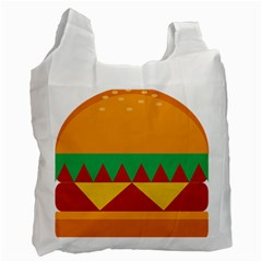 Burger Bread Food Cheese Vegetable Recycle Bag (one Side)