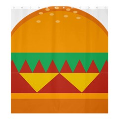 Burger Bread Food Cheese Vegetable Shower Curtain 66  X 72  (large)  by Simbadda