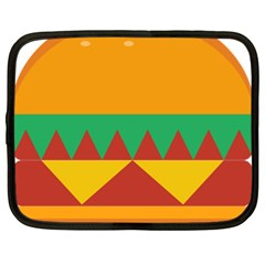 Burger Bread Food Cheese Vegetable Netbook Case (xl)  by Simbadda