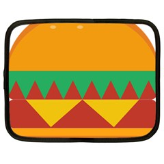 Burger Bread Food Cheese Vegetable Netbook Case (xxl)  by Simbadda