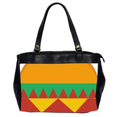 Burger Bread Food Cheese Vegetable Office Handbags (2 Sides)