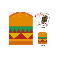 Burger Bread Food Cheese Vegetable Playing Cards (mini)