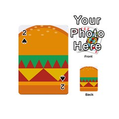 Burger Bread Food Cheese Vegetable Playing Cards 54 (mini)