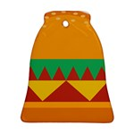 Burger Bread Food Cheese Vegetable Bell Ornament (Two Sides) Back