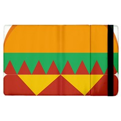 Burger Bread Food Cheese Vegetable Apple Ipad 2 Flip Case by Simbadda