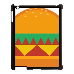 Burger Bread Food Cheese Vegetable Apple Ipad 3/4 Case (black) by Simbadda
