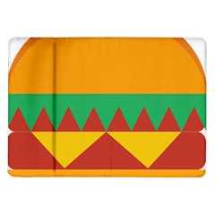 Burger Bread Food Cheese Vegetable Samsung Galaxy Tab 10 1  P7500 Flip Case