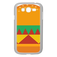 Burger Bread Food Cheese Vegetable Samsung Galaxy Grand Duos I9082 Case (white) by Simbadda