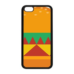 Burger Bread Food Cheese Vegetable Apple Iphone 5c Seamless Case (black) by Simbadda