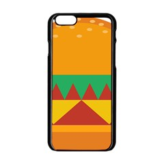 Burger Bread Food Cheese Vegetable Apple Iphone 6/6s Black Enamel Case by Simbadda