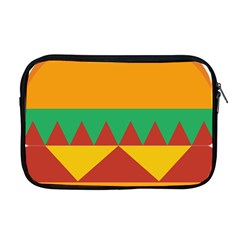Burger Bread Food Cheese Vegetable Apple Macbook Pro 17  Zipper Case by Simbadda