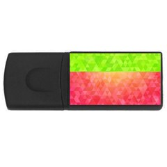 Colorful Abstract Triangles Pattern  Usb Flash Drive Rectangular (4 Gb) by TastefulDesigns