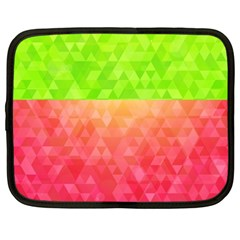 Colorful Abstract Triangles Pattern  Netbook Case (large)