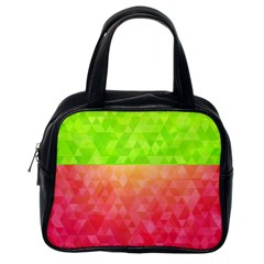 Colorful Abstract Triangles Pattern  Classic Handbags (one Side)