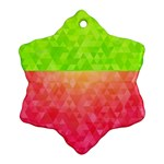 Colorful Abstract Triangles Pattern  Ornament (Snowflake) Front