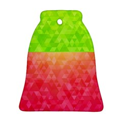 Colorful Abstract Triangles Pattern  Ornament (bell) by TastefulDesigns