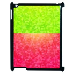 Colorful Abstract Triangles Pattern  Apple Ipad 2 Case (black) by TastefulDesigns