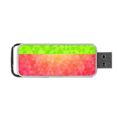 Colorful Abstract Triangles Pattern  Portable Usb Flash (two Sides) by TastefulDesigns
