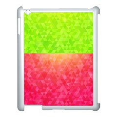 Colorful Abstract Triangles Pattern  Apple Ipad 3/4 Case (white) by TastefulDesigns