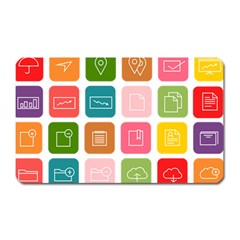 Icons Vector Magnet (rectangular) by Simbadda