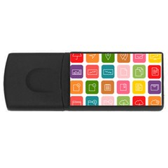 Icons Vector Usb Flash Drive Rectangular (4 Gb) by Simbadda