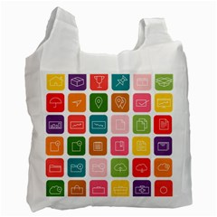 Icons Vector Recycle Bag (two Side)
