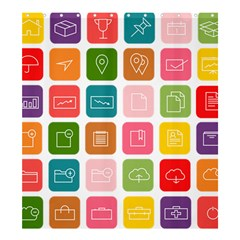 Icons Vector Shower Curtain 66  X 72  (large)