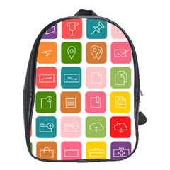 Icons Vector School Bags(large)
