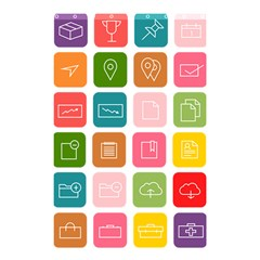 Icons Vector Shower Curtain 48  X 72  (small)  by Simbadda