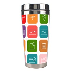 Icons Vector Stainless Steel Travel Tumblers by Simbadda