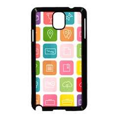 Icons Vector Samsung Galaxy Note 3 Neo Hardshell Case (black)