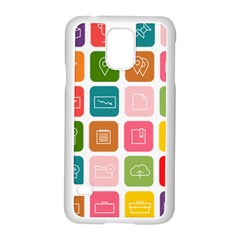 Icons Vector Samsung Galaxy S5 Case (white)