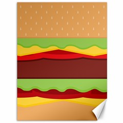 Vector Burger Time Background Canvas 36  X 48