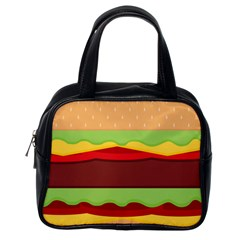 Vector Burger Time Background Classic Handbags (one Side) by Simbadda