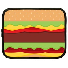 Vector Burger Time Background Netbook Case (xxl)  by Simbadda