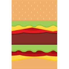 Vector Burger Time Background 5 5  X 8 5  Notebooks by Simbadda