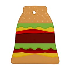 Vector Burger Time Background Bell Ornament (two Sides) by Simbadda