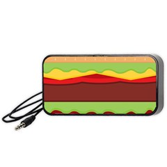 Vector Burger Time Background Portable Speaker (black) by Simbadda