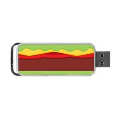 Vector Burger Time Background Portable Usb Flash (one Side)