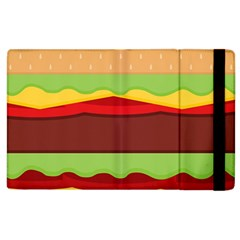 Vector Burger Time Background Apple Ipad 2 Flip Case