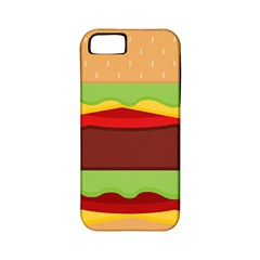 Vector Burger Time Background Apple Iphone 5 Classic Hardshell Case (pc+silicone) by Simbadda