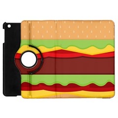 Vector Burger Time Background Apple Ipad Mini Flip 360 Case by Simbadda