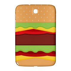 Vector Burger Time Background Samsung Galaxy Note 8 0 N5100 Hardshell Case  by Simbadda