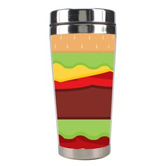 Vector Burger Time Background Stainless Steel Travel Tumblers by Simbadda