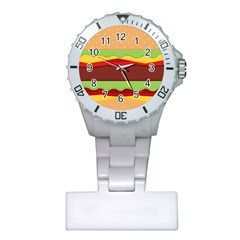 Vector Burger Time Background Plastic Nurses Watch by Simbadda