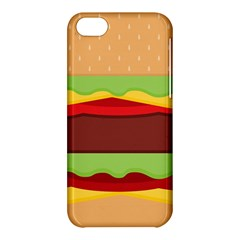 Vector Burger Time Background Apple Iphone 5c Hardshell Case by Simbadda