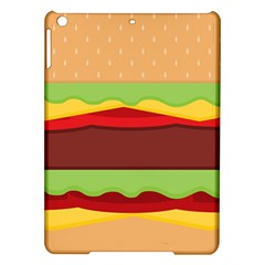 Vector Burger Time Background Ipad Air Hardshell Cases by Simbadda
