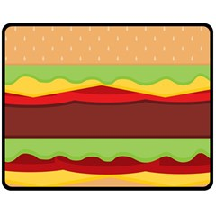 Vector Burger Time Background Double Sided Fleece Blanket (medium)  by Simbadda