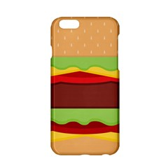 Vector Burger Time Background Apple Iphone 6/6s Hardshell Case by Simbadda