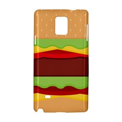 Vector Burger Time Background Samsung Galaxy Note 4 Hardshell Case by Simbadda